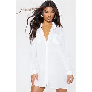 Michael Kors White Button Down Shirt Dress